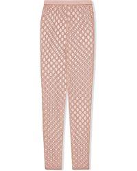 Gucci Легинсы С Вышитым Логотипом GG - Розовый