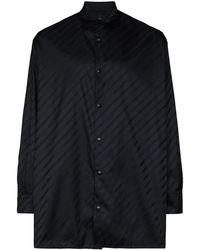 Givenchy Chain-logo Long-sleeve Shirt - Black