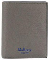 Mulberry Portefeuille pliant en cuir grainé - Gris