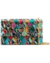 M2malletier Diamond snakeskin shoulder bag - Multicolore