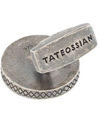 Tateossian カフスボタン - グレー