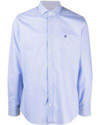Hackett Check-pattern Buttoned Shirt - Blue