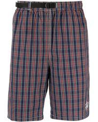 Stussy Karierte Shorts mit Gürtel - Blau
