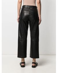 Anine Bing Straight-leg Pants - Black