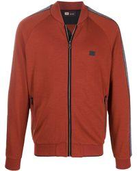 Z Zegna Zip-up logo track jacket - Orange