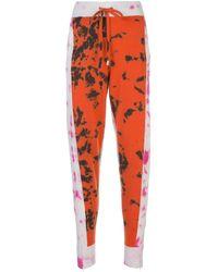 Zoe Jordan Tie-dye Track Pants - Orange