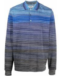 Missoni ストライプ ポロシャツ - ブルー