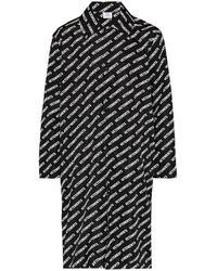 Vetements Плащ С Логотипом - Черный