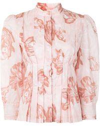 Karen Walker Camicia a fiori - Rosa
