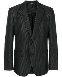 Dolce & Gabbana ストライプ テーラードジャケット - ブラック