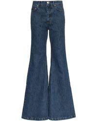 Matthew Adams Dolan Ultra-flared Denim Jeans - Blue