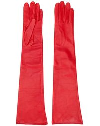 Manokhi Textured Style Long Gloves