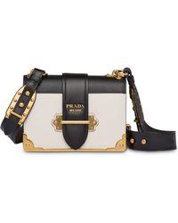 578641e6d844 Lyst - Prada Cahier Velvet Shoulder Bag in Blue