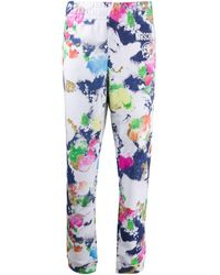 Moschino Paint-effect Track Pants - White