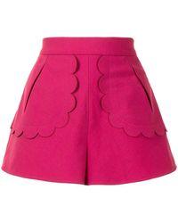 Valentino Shorts con detalles festoneados - Rosa