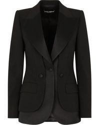 Dolce & Gabbana サテントリム ジャケット - ブラック
