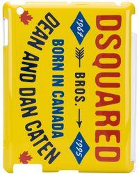 DSquared² ロゴ Ipad ケース - イエロー