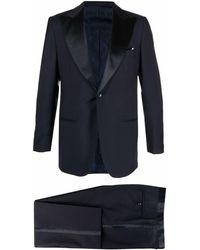 Kiton ウール シングルスーツ - ブルー