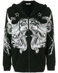 Givenchy - Printed Zip Hoodie - Lyst