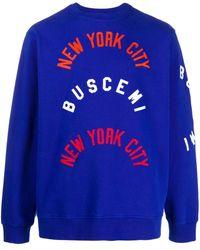 Buscemi ロゴ スウェットシャツ - ブルー