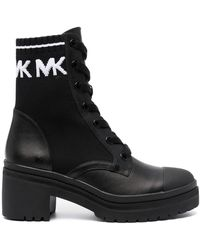 Michael Kors Lace-up Heeled Boots - Black