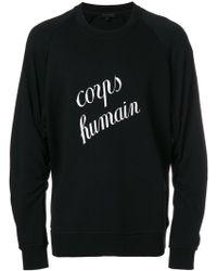 Ann Demeulemeester Blanche Corps Humain スウェットシャツ - ブラック