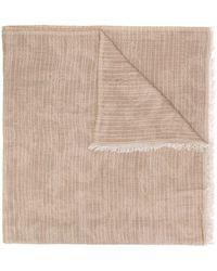 Peserico ペイズリー スカーフ - ブラウン