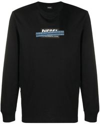 DIESEL T-just-ls-x41 スウェットシャツ - ブラック