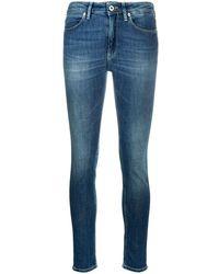 Dondup Denim High Rise Skinny Jeans - Blue