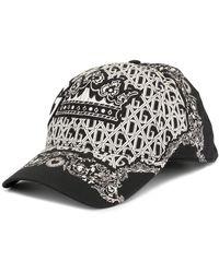 Dolce & Gabbana Cappello da baseball con stampa - Nero