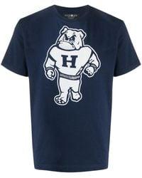 Hydrogen ロゴ Tシャツ - ブルー