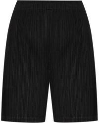 Pleats Please Issey Miyake Geplooide Shorts - Zwart