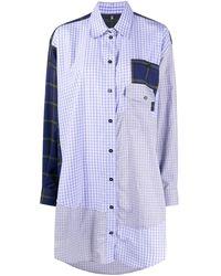 McQ チェック シャツドレス - ブルー