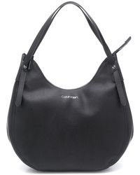 Calvin Klein ロゴ ホーボーバッグ - ブラック