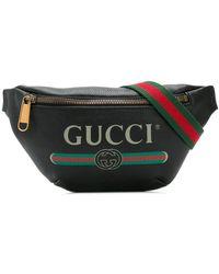 Gucci Logo Print Belt Bag - Black