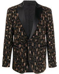 Versace Blazer Verfraaid Met Kralen - Zwart