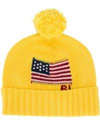 Polo Ralph Lauren Beanie mit Flagge - Gelb