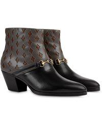 Gucci Ботинки С Логотипом Interlocking G - Черный