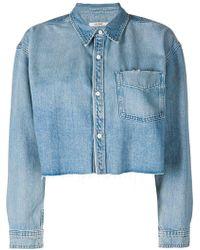 GRLFRND Укороченная Джинсовая Рубашка - Синий