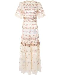 Needle & Thread Sequined Lace Dress - Multicolour