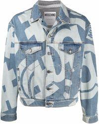 Moschino Джинсовая Куртка С Графичным Принтом - Синий