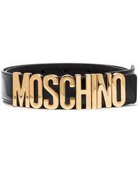 Moschino レザー ベルト - ブラック