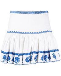 Étoile Isabel Marant エンブロイダリー ミニスカート - ブルー