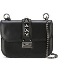 Valentino - Glam Lock Small Leather Shoulder Bag - Lyst