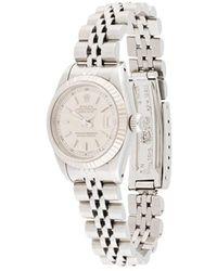 Rolex ' Oyster Perpetual Date' Armbanduhr, 22mm - Mettallic