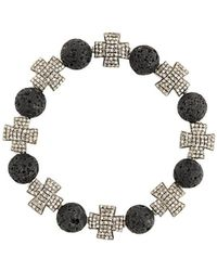 Loree Rodkin - Beaded Cross Bracelet - Lyst