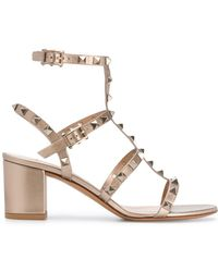 Valentino Valentino Garavani Rockstud Sandals - Metallic