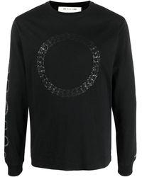 1017 ALYX 9SM チェーンプリント Tシャツ - ブラック
