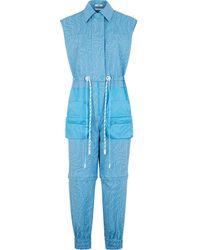 Fendi Wandelbarer Jumpsuit mit FF-Print - Blau