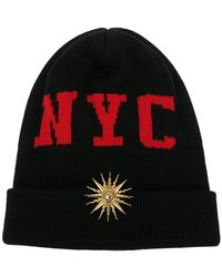Fausto Puglisi Nyc Beanie Hat - Black